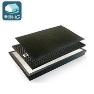 禾淨 濾網 適用Panasonic 空氣清淨機 F-VXF35W / F-PXF35W (加贈活性炭濾網)