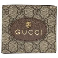 GUCCI  GG Supreme虎頭短夾(棕X黃色-8卡)