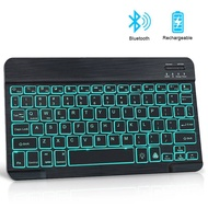 Mini Bluetooth Keyboard Wireless ipad Keyboard Backlit Tablet Spanish Rechargeable Keyboard For Tablet ipad cell phone Laptop