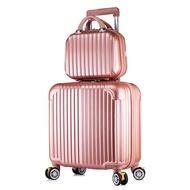 แชสซีบอร์ด18นิ้วกระเป๋าเดินทางขนาดเล็กรถเข็นกระเป๋าผู้ชายและผู้หญิง16ล้อ ล้อ ล้อ