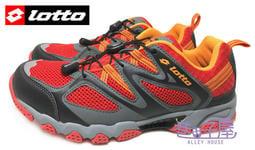特賣會 義大利第一品牌-LOTTO 男款排水透氣山水車三棲鞋 [3582] 橘紅 超值價$690