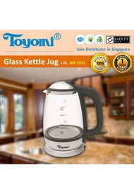 Toyomi Glass Kettle Jug 1.5L - WK 1531