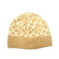 【COACH】秋冬新款羊毛毛線帽(米)