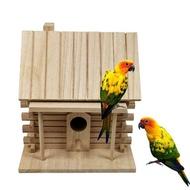 บ้านนกไม้กล่องเพาะพันธุ์นกให้ความอบอุ่น,ของเล่นสำหรับสัตว์เลี้ยงรังนกกลางแจ้ง
