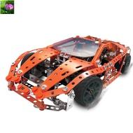 <唯美>Meccano賽車f1組裝款啟蒙拼裝玩具螺母拆裝零件益智模型
