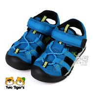 日本月星 MoonStar 藍色 透氣涼鞋 中童鞋 NO.Y1556