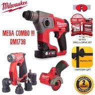 MILWAUKEE MEGA COMBO SET HAMMER DRILL  M12 CH +M12 FDDXKIT + M12 FCOT EXTRA FREE GIFT