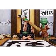 希模型★ 2019 8月 海賊王 GK 雕像 模型 鬥劇VS Dueling 海賊王 書法 索隆索隆 訂金3000