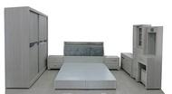 【尚品傢俱】779-07 銀狐 雪山白木製5尺床組+7尺衣櫃/房間床組/套房家具/寢室傢俱