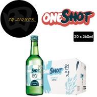 [TY Liquor] ONESHOT Original Soju - 20x360ml