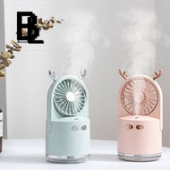 portable mist fan 3 in 1 Rechargeable Portable Cool Mist Fans Humidifier with Colorful Night Light for Bedroom Living Room Use USB Fan with Air Diffuser Cooler Mini Fan Desk Desktop Fan Humidifier