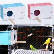 กล่องเพาะพันธุ์นกสัตว์เลี้ยงนก Parakeet นก Budgie นก Cockatiel กล่องเพาะพันธุ์รังกล่องแยก Birdhouse