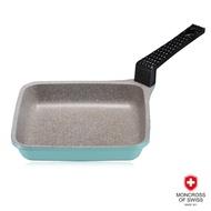 瑞士MONCROSS湛藍鈦石菱形不沾小煎鍋16cm