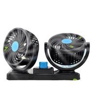 車載風扇車用 雙頭 單頭 12V 24v強勁風力降溫明顯消暑好貨內制冷強力大風力汽車電風扇USB點【現貨供應 限時特惠】