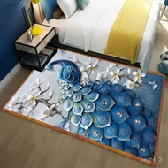 🔥XD.Store carpet Northern EuropeinsNew Style Peacock Simple Rug Living Room Bedroom Sofa and Tea Table Bathroom Door Mat