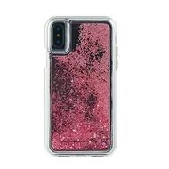 「65折優惠,現貨全新品」美國 Case-Mate iPhone X Waterfall 亮粉瀑布防摔手機保護殼 - 玫瑰金