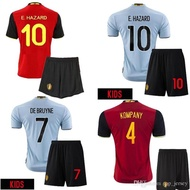 Belgium Kids eruo Soccer Jersey 2016 E.HAZARD home red away blue LUKAKU KOMPANY thai quality Belgium