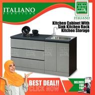Ready-Fixed 2-Feet Kitchen Cabinet With Sink Kitchen Rack Kitchen Storage