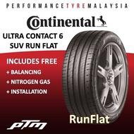 Continental Ultra Contact 6 UC6 SUV RUN FLAT 225/60R17 235/55R19 255/45R20 TYRE (FREE INSTALLATION) MERCEDES GLC 200 GLC250 GLC300 RFT RUN FLAT RUN-FLAT