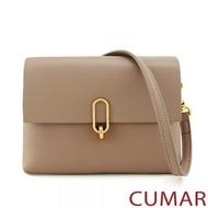 CUMAR 女包 - 【CUMAR】掀蓋軟皮金屬轉扣斜背包