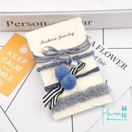 【Hera 赫拉】小清新簡約毛球髮圈套組(5款)淺藍
