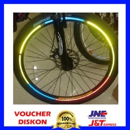8 Strips Bicycle Wheel Reflective Stickers - Bicycle Wheel Reflective Stickers