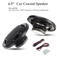 GM 2pcs 6.5 inch 400W 3 Way Car Speaker and Subwoofer HIFI Speaker Car Rear / Front Door Audio Music Stereo Coxial Speakers System