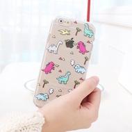 韓國 可愛恐龍 透明軟殼 手機殼│Note5 Note8 Note9 Note10│z7633
