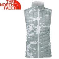 [現貨]The North Face 女款 ThermoBall背心《白迷彩》極輕量/科技羽絨/防風快乾/363UYBN