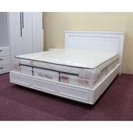 【歐風別館】康庭新古典白色床頭箱+掀床【基隆至台中免運費】