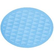 日本 trico - 橢圓菱格瞬吸珪藻土地墊-藍