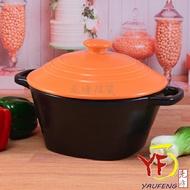 ★堯峰陶瓷★廚房系列 鶯歌製造 橘色彩繪湯鍋 圓蓋款 陶鍋 滷味鍋 燉鍋 3~4人份