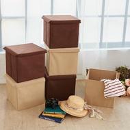 【H&R 安室家】可折疊不織布收納箱/收納盒3入組
