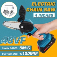 800W Portable Electric Pruning Saw Electric Saws Woodworking Electric Saw Garden Logging Mini Electric Chain Saw Lithium
