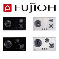 FUJIOH 50 SERIES 3 BURNER GLASS/STAINLESS STEEL GAS HOBS [FH-GS5035/FH-GS5030] - MULTI MODELS