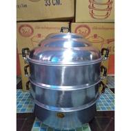 Kithenekหม้อต้มอาหาร หม้อแขก หม้อกระทะ หม้อนึ่งหม้อซึงเบอร์ 36 อลูมิเนียมแท้100% สินค้าราคาโรงงานหม้อสแตนเลส หม้อทอด หม้อชาบู หม้อแกง วัสดุแข็งแรง