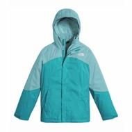 美國百分百【The North Face】防風 連帽 外套 TNF 保暖 夾克 兩件式 北臉 拼色 藍綠色 女 I803