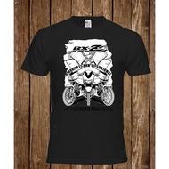 Yamaha Rxz Racing Motorcycle Motorbike Vintage T-Shirt Men Cotton