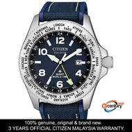 Citizen BJ7100-15L Men's Eco-Drive Promaster Land Series GMT World Time Blue Nylon-Rubber Strap Watch