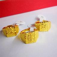 ทองปลอม ทองปลอมไม่ลอก ทอง แหวนทอง ทองครึ่งสลึง ทองคำแท้ครึ่งสลึง แหวนทองครึ่งสลึง แหวนทองคำแท้ แหวนทอง1กรัม เหล็กไหล เเหวนทอง แหวนทอง 18K ผู้ชายสี่เหลี่ยมจัตุรัส