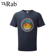 【RAB】Stance 3 Peaks SS Tee 透氣短袖有機棉T恤 男款 深墨藍 #QCA98