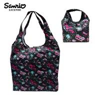 黑色款【日本正版】凱蒂貓 摺疊 購物袋 環保袋 手提袋 防潑水 Hello Kitty 三麗鷗 Sanrio - 466923