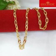 สร้อยทอง สร้อยคอทอง สร้อยคอทองคำ เศษทองคำเยาวราช ลายโซ่ฝรั่ง น้ำหนัก 1บาท ความยาวสวมหัวได้