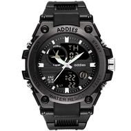 Addies 1818 Mens watch 5bar waterproof digital watch buckle clasp mans sports watch rubber band wristwatch with box gifts for man