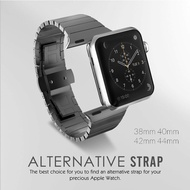 stainless steel watch strap for apple watch band 4 42mm 38mm correa metal Butterfly buckle watch band for i watch 44mm 40mm 3/2/1 high quality apple watch strap