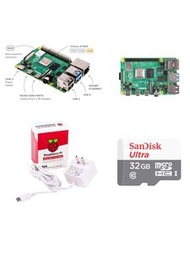 Raspberry Pi 4 Model B/4GB 樹莓派套件組--簡配(含Pi 4/4GB + 32G SD卡 + 原廠電源)