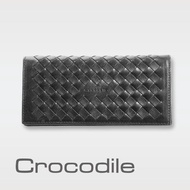 【Crocodile】義大利植鞣製皮 Natural x Woven 編織系列長夾 0103-07301(義大利真皮皮革)