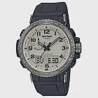 CASIO卡西歐  G-SHOCK系列 雙顯電波手錶 (PRW-50Y-1B)-黑x米白