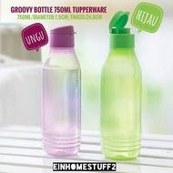 Tupperware Eco Bottle 750ml botol minum triangle bentuk segitiga warna hijau dan ungu
