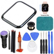 Precise Out Front LCD Glass Cover Replacement UV Glue Touch Screen Repair Kit for Apple Watch 2/3/4/5/6 Series 38mm 42mm 40mm 44